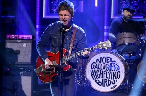 THE TONIGHT SHOW STARRING JIMMY FALLON -- Episode 0257 -- Pictured: .Noel Gallagher of musical guest Noel Gallagher's High Flying Birds performs on May 6, 2015 -- (Photo by: Douglas Gorenstein/NBC)