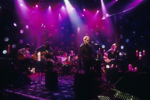 Layne Staley, lead singer of Alice In Chains performing on MTV Unplugged in 1996 Photo by Frank Micelotta/Getty Images