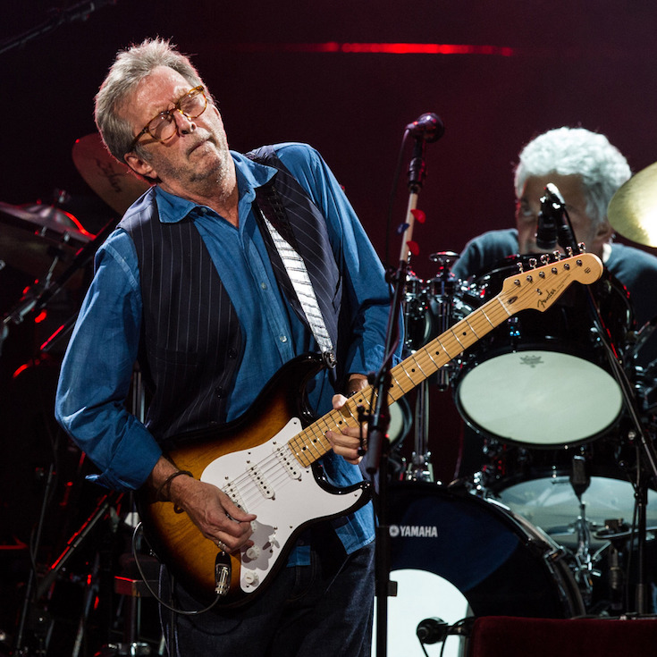 LONDON, ENGLAND - MAY 14:  Eric Clapton performs live on stage at Royal Albert Hall on May 14, 2015 in London, England.  (Photo by Brian Rasic/WireImage)