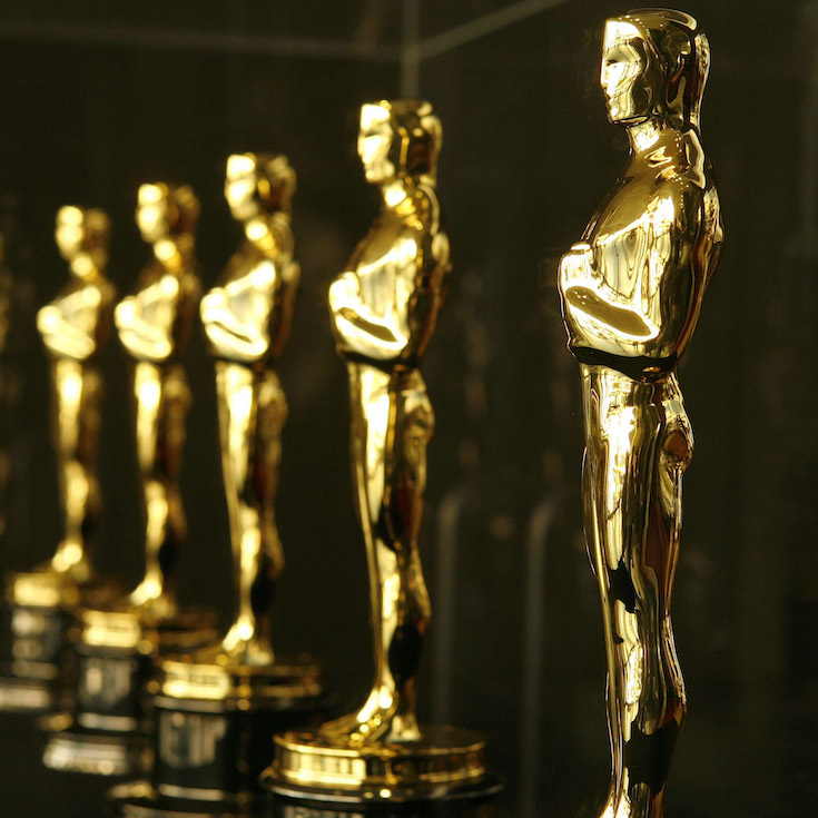 Actual Oscar statuettes to be presented during the 79th Annual Academy Awards sit in a display case in Hollywood February 21, 2007. The Oscars will be presented on February 25.   REUTERS/Gary Hershorn   (UNITED STATES)