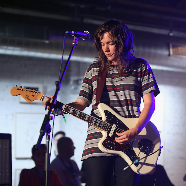 AUSTIN, TX - MARCH 19:  Courtney Barnett preforms at Tumblr IRL Presents Courtney Barnett At SXSW, With Art By Traceloops, Wolf Mask & Ana Tortos on March 19, 2015 in Austin, Texas.  (Photo by Robin Marchant/Getty Images for Tumblr)