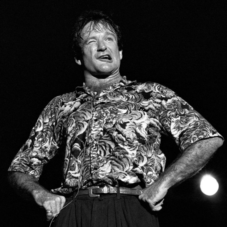 ATLANTA - May 10: Comedian Robin Williams performs at Chastain Park Amphitheater in Atlanta Georgia. May 10, 1986 (Photo By Rick Diamond/Getty Images)